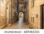 jerusalem old city alley   the... | Shutterstock . vector #685482331