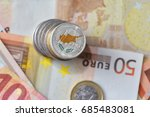 euro coin with national flag of ... | Shutterstock . vector #685483081