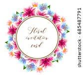 romantic invitation. wedding ... | Shutterstock .eps vector #685487791