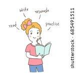 vector illustration character... | Shutterstock .eps vector #685491511