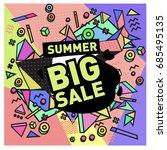 summer sale memphis style web... | Shutterstock .eps vector #685495135