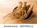 korean ginseng | Shutterstock . vector #685498111
