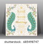 wedding invitation card... | Shutterstock .eps vector #685498747