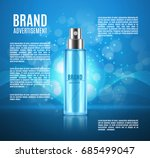 cosmetic ads template. spray... | Shutterstock .eps vector #685499047