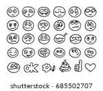 vector hand drawn emoticon... | Shutterstock .eps vector #685502707