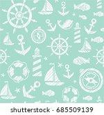 nautical background  seamless ... | Shutterstock .eps vector #685509139