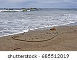gray   grey day at the beach.   Shutterstock . vector #685512019