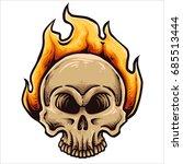 vector illustration of skull... | Shutterstock .eps vector #685513444