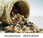 Dried Grains Bird Food  Black...