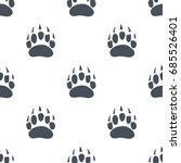 bear claw. bear footprint... | Shutterstock .eps vector #685526401