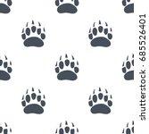 bear claw. bear footprint...   Shutterstock .eps vector #685526401