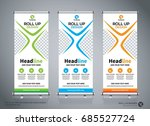 roll up brochure flyer banner... | Shutterstock .eps vector #685527724
