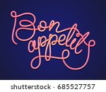 hand inscription lettering... | Shutterstock .eps vector #685527757