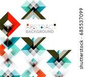 modern square geometric pattern ... | Shutterstock . vector #685537099