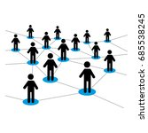 vector illustration of dealers... | Shutterstock .eps vector #685538245