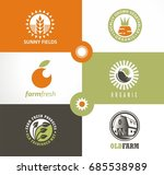 farm fresh products logo... | Shutterstock .eps vector #685538989