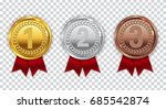 champion gold  silver and... | Shutterstock .eps vector #685542874