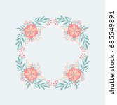 vector wreath with hand drawn...   Shutterstock .eps vector #685549891