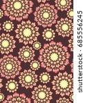 stylized flower. seamless... | Shutterstock .eps vector #685556245