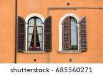 old  windows with  wooden... | Shutterstock . vector #685560271