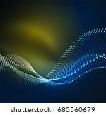 wave particles background   3d ... | Shutterstock . vector #685560679