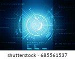 2d illustration technology... | Shutterstock . vector #685561537