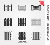 fence icons  fence icons vector