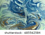 marbled blue and golden... | Shutterstock . vector #685562584