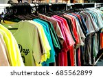 t shirt rack in the store | Shutterstock . vector #685562899