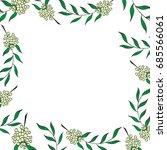 herbal square frame greeting... | Shutterstock .eps vector #685566061