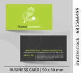 business card template for... | Shutterstock .eps vector #685566499