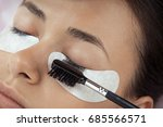 cosmetic procedure of eyelash... | Shutterstock . vector #685566571