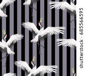 crane  pattern  vector ...   Shutterstock .eps vector #685566595