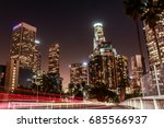 downtown  los angeles ... | Shutterstock . vector #685566937