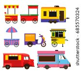 different food trucks set.... | Shutterstock . vector #685570324