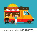 cartoon illustration of food... | Shutterstock . vector #685570375