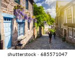 beautiful view of scenic narrow ... | Shutterstock . vector #685571047