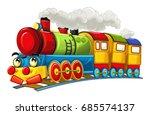 cartoon funny looking steam... | Shutterstock . vector #685574137