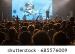 crowd at concert   cheering... | Shutterstock . vector #685576009