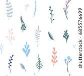 flower simple minimalistic... | Shutterstock .eps vector #685576699