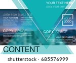 presentation layout design... | Shutterstock .eps vector #685576999