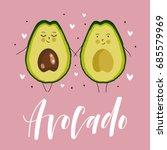 postcard valentine's day.... | Shutterstock .eps vector #685579969