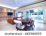 interior design of open space...   Shutterstock . vector #685584055