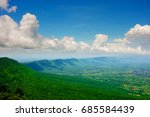 mountain view from above with... | Shutterstock . vector #685584439