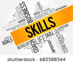 skills word cloud collage ... | Shutterstock .eps vector #685588564