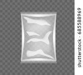 transparent food snack plastic... | Shutterstock .eps vector #685588969