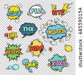 thx  asap  plz  wtf  lol  rotfl ...   Shutterstock .eps vector #685590154