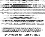 tire tracks . dirty grunge... | Shutterstock .eps vector #685594831