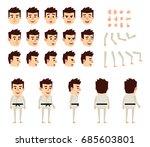 martial art expert in white... | Shutterstock .eps vector #685603801