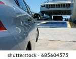 Car Waiting To Board A Ferry I...